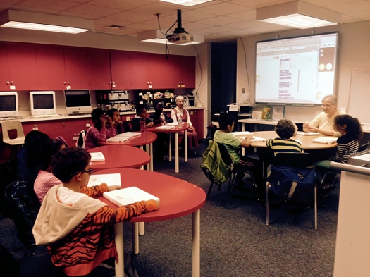 JV Computer Club home in the Jackson-Via Library