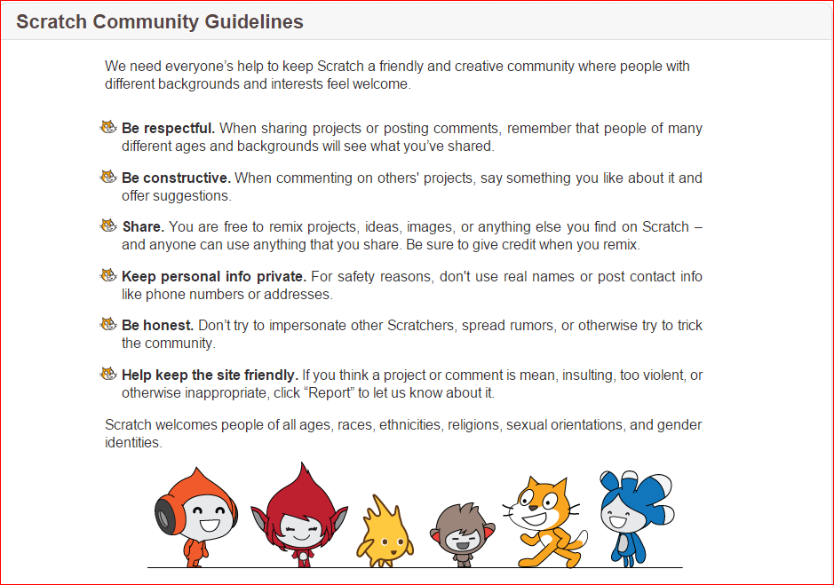 Scratch Community Guidelines